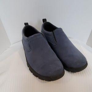Lands' End Blue Suede Slip On Shoes